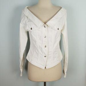 Vintage DKNY denim boatneck jacket